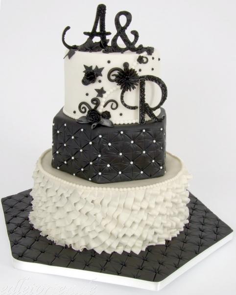 Hundertwasser Hochzeitstorte Schwarz-Weiß Hochzeitstorte ...